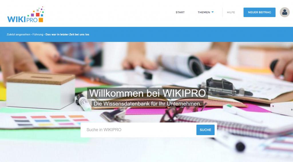 WIKIpro Startseite